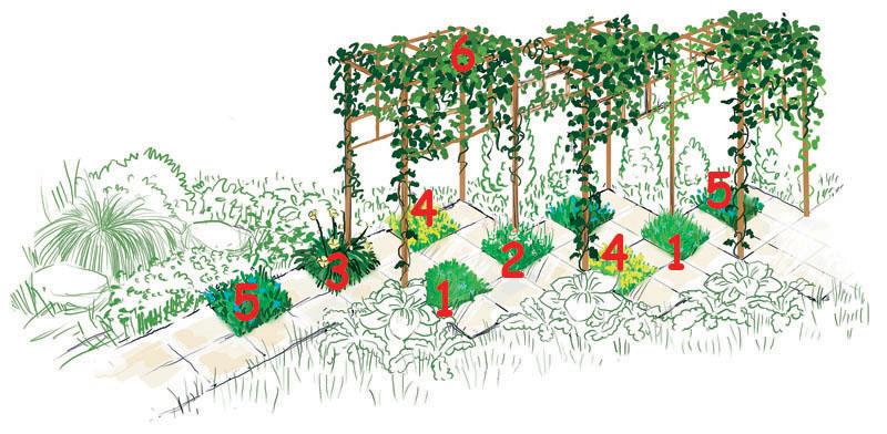 4 проекта модульных цветников в саду