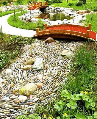 дизайн ландшафтный фото сухой ручей