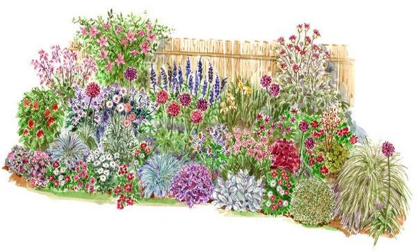 Схемы цветочных клумб